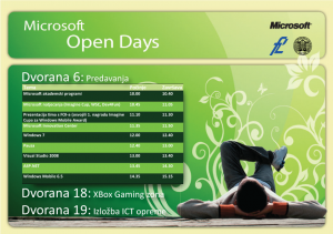 Microsoft Open Days 2009 Schedule